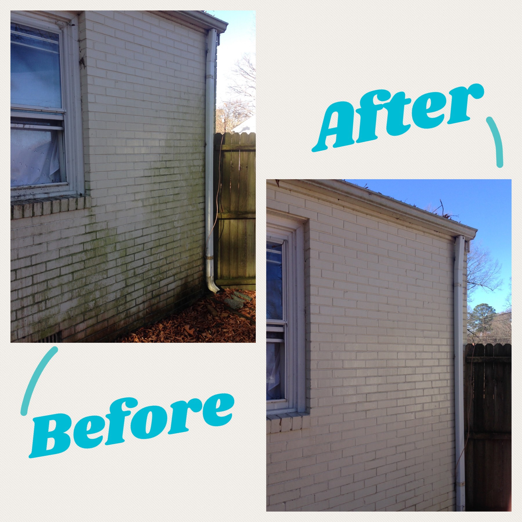 Before and After Brick Wash