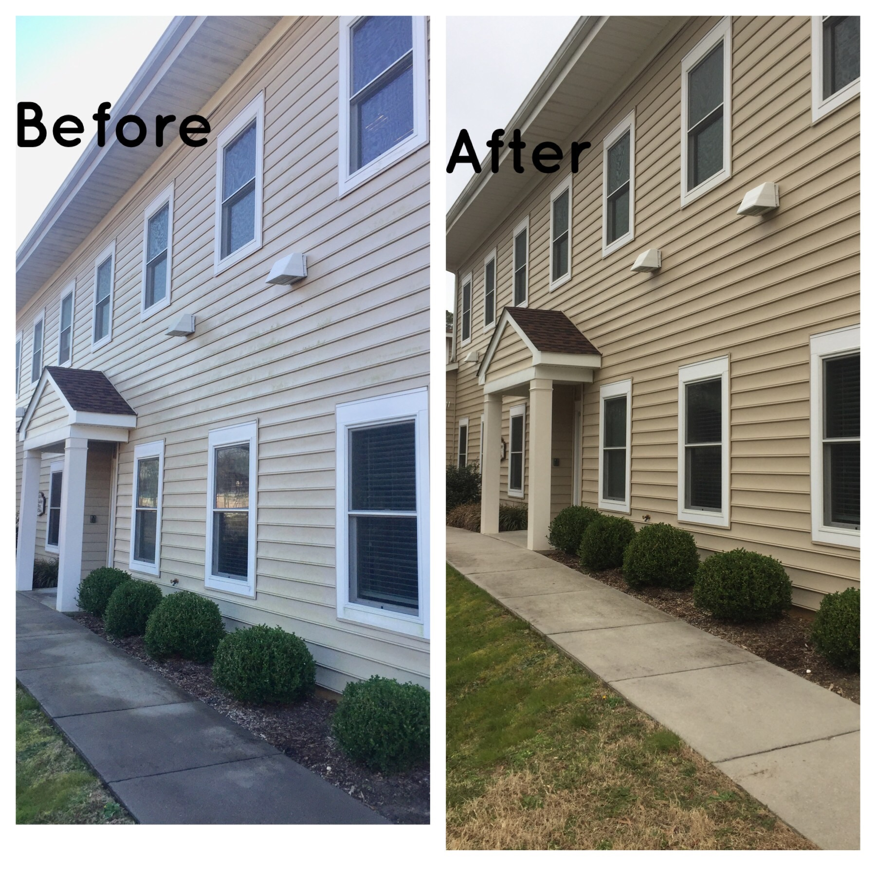 Lackey Clinic washed by Soft Works Power Washing